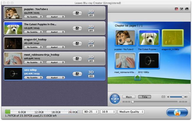 Tutorial of Leawo Blu-ray Creator for Mac
